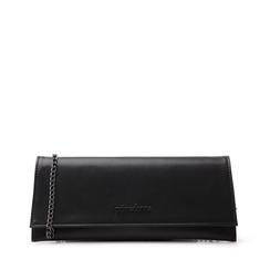 Pochette piatta nera in eco-pelle, Borse, 145122509EPNEROUNI, 001a