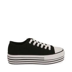 Sneakers negras de lona, Primadonna, 172642102CANERO035, 001a