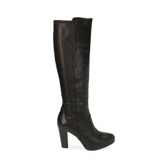 Stivali neri, tacco 9,50 cm , Primadonna, 160619077EPNERO035, 001 preview