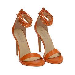 Sandali lace-up arancio, tacco 11 cm, 172133431EPARAN038, 002a