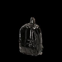 Sac à dos noir duvet en vernis, IDEE REGALO, 165122936VENEROUNI, 002a