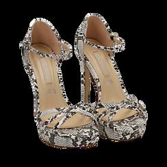 WOMEN SHOES SANDAL EP-PYTHON BINE, Chaussures, 152118123PTBINE036, 002a