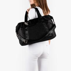 Maxi bag nera in tessuto tecnico, Primadonna, 152392470TSNEROUNI, 002a