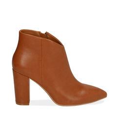 Ankle boots cognac, tacco 9,5 cm , Primadonna, 174916101EPCOGN035, 001a
