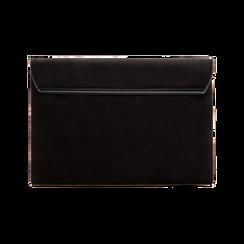 Pochette bustina nera in microfibra scamosciata, Borse, 123308136MFNEROUNI, 002 preview