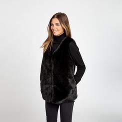 Smanicato eco-fur nero, Abbigliamento, 12B400303FUNERO, 003 preview