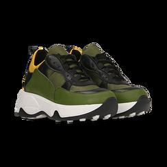 """Sneakers nero-verde  con zeppa effetto """"wave"""", Primadonna, 12A600999PENEVE039, 002 preview"""