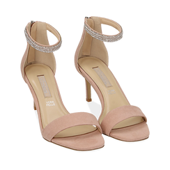WOMEN SHOES SANDAL MICROFIBER NUDE, Chaussures, 152182331MFNUDE035, 002a