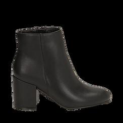 Ankle boots nero, tacco 7,5 cm , Primadonna, 162762715EPNERO035, 001a