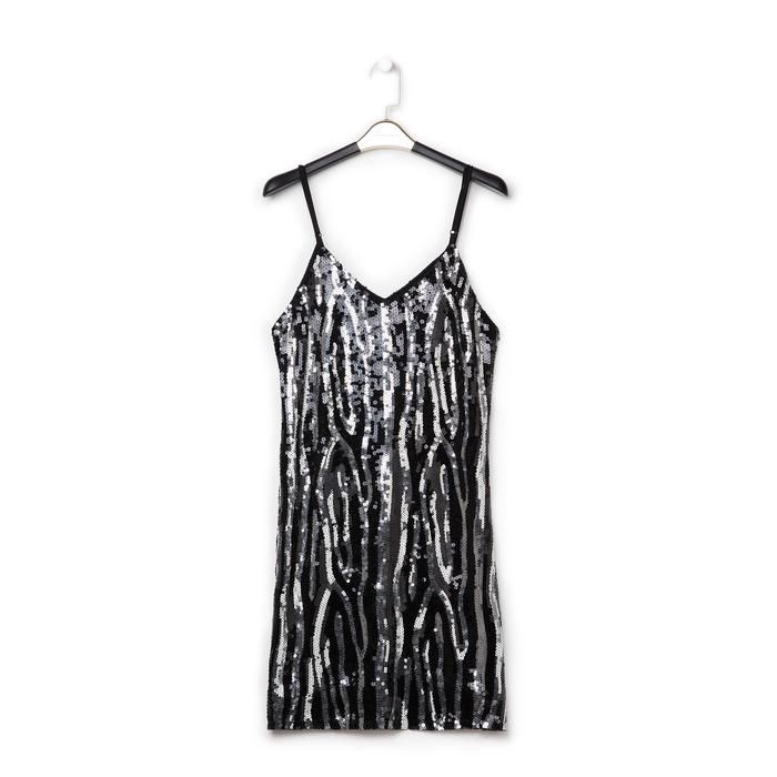 Mini-dress nero zebrato, Abbigliamento, 13A200002PLNEROL