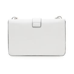 Borsa piccola bianca in eco-pelle con borchie, Borse, 132300503EPBIANUNI, 003 preview
