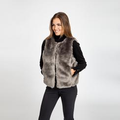 Smanicato eco-fur grigio, Abbigliamento, 12B400302FUGRIG, 002 preview