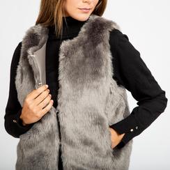 Smanicato eco-fur grigio, Abbigliamento, 12B400302FUGRIG, 005 preview