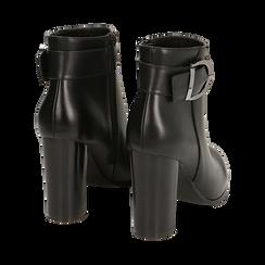 Ankle boots neri con fibbia, tacco 9,50 cm , Primadonna, 163058705EPNERO036, 004 preview