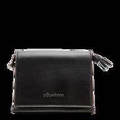 Pochette con tracolla nera in ecopelle, Primadonna, 121818004EPNEROUNI, 001a