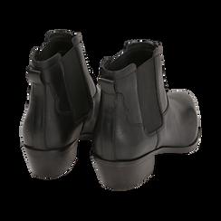 Chelsea boots neri in pelle di vitello, tacco 3,5 cm, Primadonna, 15J492413VINERO036, 004 preview