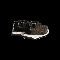 Sneakers leopard dettagli leopard e suola bianca in gomma, Scarpe, 120125906MFLEOP, 006 preview