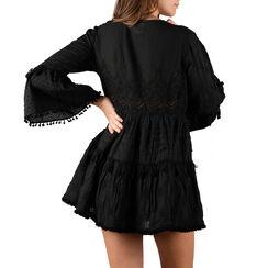 Caftan noir en tissu, Primadonna, 150500008TSNEROUNI, 002a
