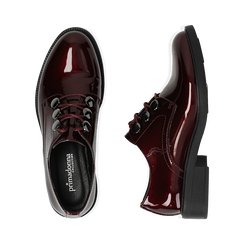 Stringate bordeaux in vernice, Scarpe, 14A776153VEBORD035, 003 preview