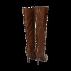 Stivali cuoio, tacco 10,50 cm , Primadonna, 162146862EPCUOI035, 003 preview
