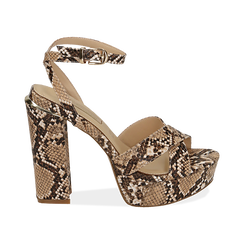 WOMEN SHOES SANDAL EP-PYTHON BEIG, Chaussures, 152133001PTBEIG, 001 preview