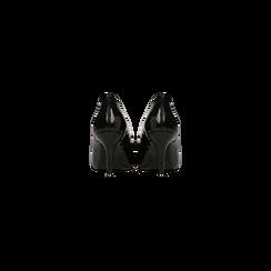 Décolleté nere vernice con punta affusolata, tacco medio 7,5 cm, Scarpe, 122111552VENERO, 003 preview