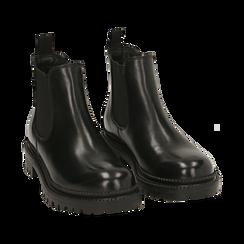 Chelsea boots neri in pelle, Primadonna, 16B811404PENERO038, 002 preview