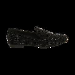Mocassini gioiello neri in microfibra, Primadonna, 164982508MPNERO035, 001 preview