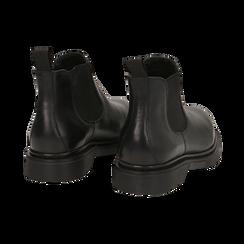 Chelsea boots neri in vera pelle, Stivaletti, 147729409PENERO036, 004 preview