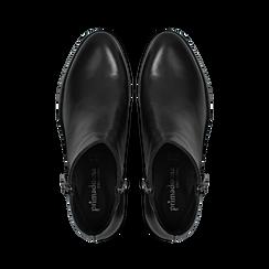 Tronchetti neri in vera pelle con punta western, tacco 3 cm, Primadonna, 128900470VINERO, 004 preview