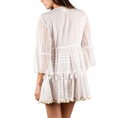 Caftan en tissu blanc, Primadonna, 150504008TSBIANUNI, 002a