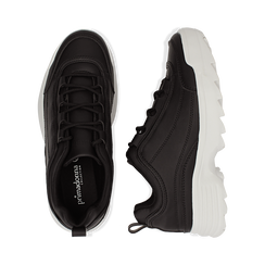 Dad shoes nere in eco-pelle con suola sagomata, Scarpe, 130101201EPNERO036, 003 preview