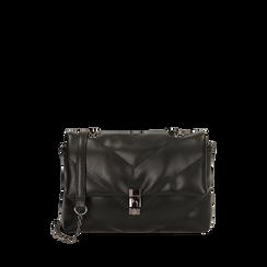 Petit sac noir matelassé, IDEE REGALO, 165122864EPNEROUNI, 001a