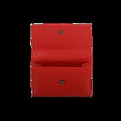 Portafoglio compatto rosso in ecopelle con 6 vani, Borse, 122200895EPROSSUNI, 006 preview