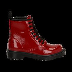Anfibi rossi in vernice, Stivaletti, 142801501VEROSS036, 001 preview