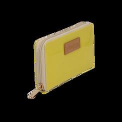 Portafoglio giallo in pvc,