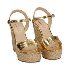 WOMEN SHOES WEDGE EP-CROCO OROG, Zapatos, 154983292CCOROG036, 002 preview