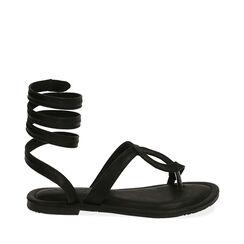 Sandalias de dedo negras, 174921381EPNERO037, 001a