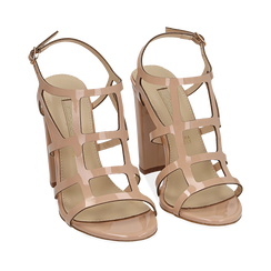 WOMEN SHOES SANDAL EP-PATENT NUDE, Chaussures, 152123413VENUDE036, 002a