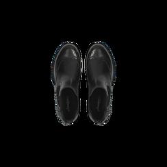 Chelsea Boots eleganti in vera pelle nera, Scarpe, 127710620PENERO, 004 preview