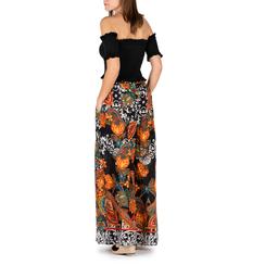 Pantaloni multicolor in tessuto painted print, Primadonna, 150500283TSARANUNI, 002a