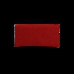 Portafoglio bordeaux in microfibra scamosciata con 12 vani, Borse, 122200022MFBORDUNI, 002 preview