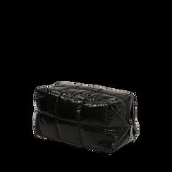 Trousse duvet nera in tessuto, IDEE REGALO, 165122984TSNEROUNI, 002a