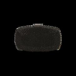 Clutch gioiello nera in microfibra, IDEE REGALO, 165109596MPNEROUNI, 003 preview