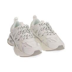 Baskets blanches / argentées, CHAUSSURES, 17E900045EPBIAR035, 002 preview