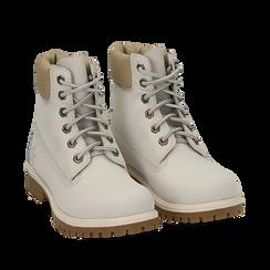 Scarponcini bianchi in nabuk, Primadonna, 16H220021NBBIAN037, 002a