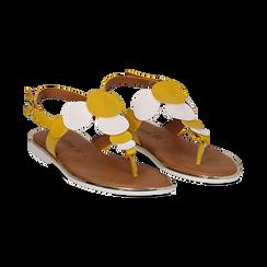 Sandali flat gialli in eco-pelle, Primadonna, 136102170EPGIAL036, 002 preview