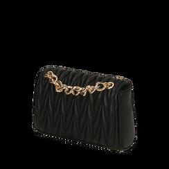 Sac bandoulière noire matelassé, Primadonna, 165101122EPNEROUNI, 002a