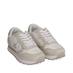 Sneakers en microfibra color blanco, Zapatos, 150620011MFBIAN036, 002a
