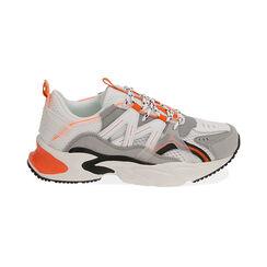 Sneakers bianco/arancio, Scarpe, 17E900045EPBIAC035, 001 preview